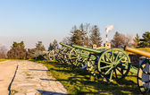Exposition of cannons at Belgrade Fortress - Serbia — Stock Photo