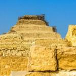 View of the Step Pyramid of Djoser at Saqqara - Egypt — Stock Photo #66007561