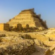 View of the Step Pyramid of Djoser at Saqqara - Egypt — Stock Photo #66007587