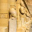 Ancient statues in the Mortuary temple of Hatshepsut - Egypt — Stock Photo #66009679