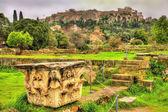 Corinthian capital at the Ancient Agora of Athens - Greece — Stock Photo