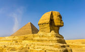 The Great Sphinx and the Great Pyramid of Giza — Stock Photo