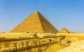 The Great Pyramid of Giza and smaller Pyramid of Henutsen (G1C) — Stock Photo
