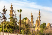 View of the Mosques of Sultan Hassan and Al-Rifai in Cairo - Egy — Stock Photo