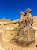 Statues of Ramses III. and Thoth at the mortuary temple - Egypt — Stock Photo