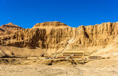 View of Deir el-Bahari, a complex of mortuary temples in Egypt — Stock Photo