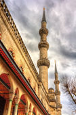 Minarets of the Sultan Ahmet Mosque in Istanbul - Turkey — Stock Photo
