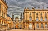 View of Nancy Cathedral from the Place Stanislas - Lorraine, Fra — Stock Photo