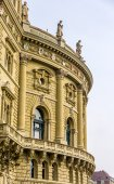 Details of Bundeshaus palace in Bern - Switzerland — Stock Photo
