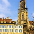 Belfry of the Bern Cathedral - Switzerland — Stock Photo #66020615