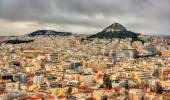 View of Mount Lycabettus from the Acropolis of Athens — Stockfoto