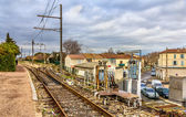 Control post of railway switches - Arles station, France — Stock Photo
