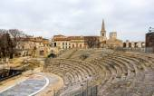 Ruins of roman theatre in Arles - UNESCO heritage site in France — Stock Photo