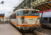 NARBONNE, FRANCE - JANUARY 06: Regional train hauled by electric — Stock Photo