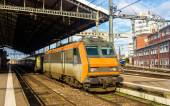 Electric locomotive at Toulouse station - France — Stock Photo