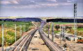 High-speed railway LGV Est phase II under construction near Save — Stockfoto