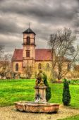 St. Jacques Majeur church in Osthoffen - Bas-Rhine, France — Stock Photo