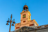 The clock of the Real Casa de Correos in Madrid — Stock Photo