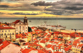 View Lisbon and the Tagus river - Portugal — Stock Photo