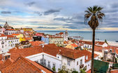View of Lisbon and the Tagus river - Portugal — Stock Photo