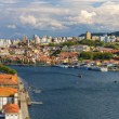 Panorama of Porto and the Douro river - Portugal — Stock Photo #68798081