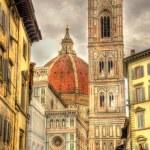 Santa Maria del Fiore, the main church of Florence - Italy — Stock Photo #70481113