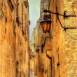 Narrow street in Mdina, the old capital of Malta — Stock Photo #70859355
