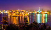 Fort St. Angelo and Dockyard Creek in Malta — Stock Photo