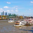 View of the Thames from Tower Bridge - London, England — Stock Photo #73004235
