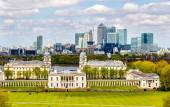 View of Canary Wharf from Greenwich - London, England — Stock Photo