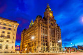 Royal Liver Building in Liverpool in the evening - England — Stock Photo