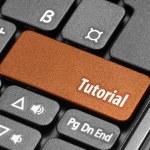 Tutorial. Orange hot key on computer keyboard — Stock Photo #55637117