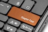 Chapter Four. Orange hot key on computer keyboard — Stock Photo