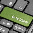 Go to School. Green hot key on computer keyboard — Stock Photo #55640845