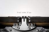"""""""Business Plan"""" written on an old typewriter — Stok fotoğraf"""