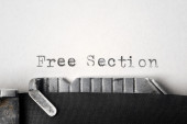 """Free Section"" written on an old typewriter — Стоковое фото"