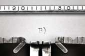 Cool smiley sign written on an old typewriter — Zdjęcie stockowe