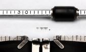 """""""www"""" written on an old typewriter — Stok fotoğraf"""
