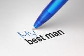 My best man, written on white paper — Stock Photo