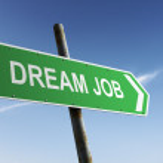 Dream Job direction. Green traffic sign. — Stock Photo #55836341