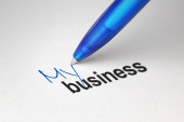 My business, written on white paper — Stock Photo