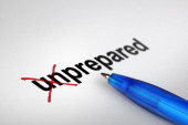Changing the meaning of word. Unprepared into Prepared. — Stock Photo