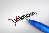 Changing the meaning of word. Unknown into Known. — Stock Photo