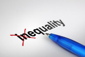 Changing the meaning of word. Inequality into Equality. — Stock Photo