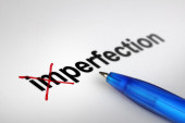 Changing the meaning of word. Imperfection into Perfection. — Stockfoto