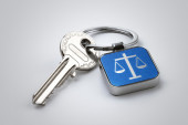 Key of Justice — Stock Photo