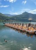 Lago Caldaro, Tirol do Sul perto de Merano, Trentino, Alto Adige, Italy — Fotografia Stock