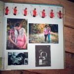 Photo album with family photos during pregnancy — Stock Photo #53541483
