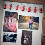 Photo album with family photos during pregnancy — Stock Photo #53541485