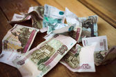 Crumpled Russian rubles — ストック写真